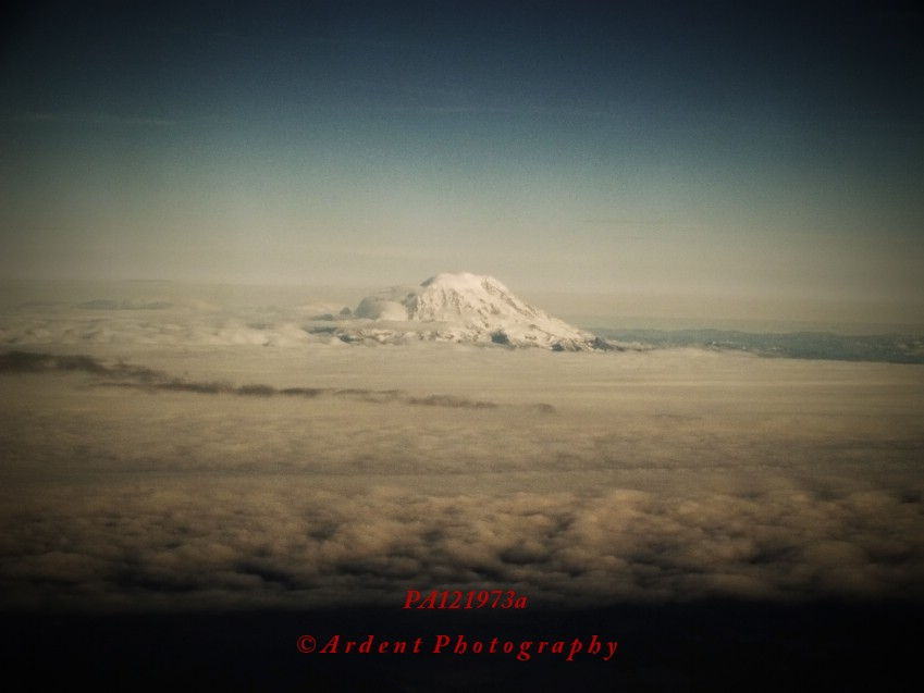 Mount Rainier Aerial Photographic Art by Sarah McTernen